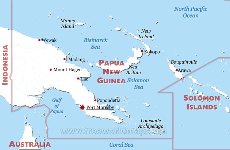 Download this Papua New Guinea Map... picture